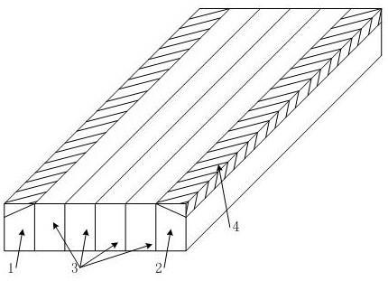 一种分块粘接局部扩散电机磁钢的制作方法