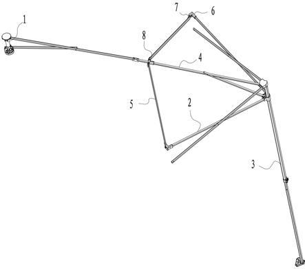 一种具有加强结构的户外折叠篷的制作方法