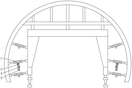 一种便于拆卸的边顶拱式台车的制作方法