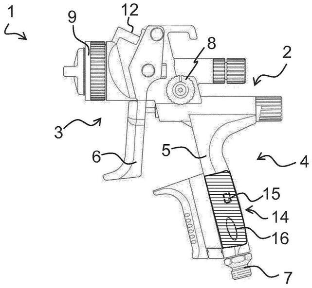 噴漆槍、材料涂敷系統及其操作方法與流程