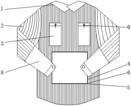 一种心内科介入手术遥测监护服的制作方法