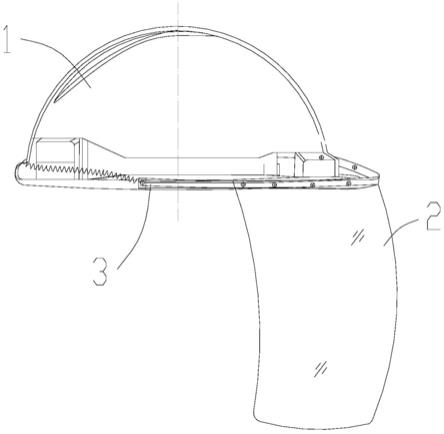 一种工地安全帽快装式电焊防护面罩的制作方法