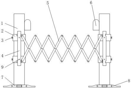 风电场电子伸缩围栏的制作方法