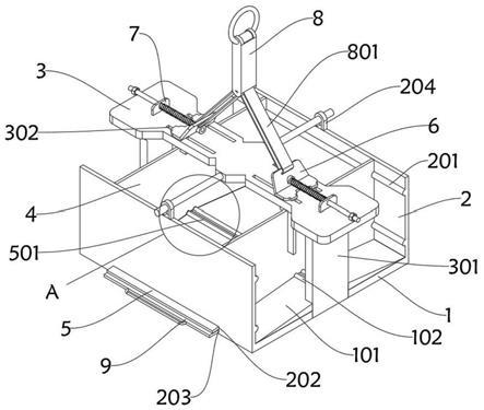 环保生物质燃料生产的秸秆颗粒绞车吊运工装的制作方法