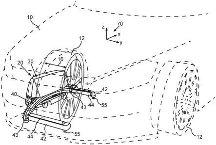 用于运输停泊的机动车的停泊机器人以及用于运行这种停泊机器人的方法与流程