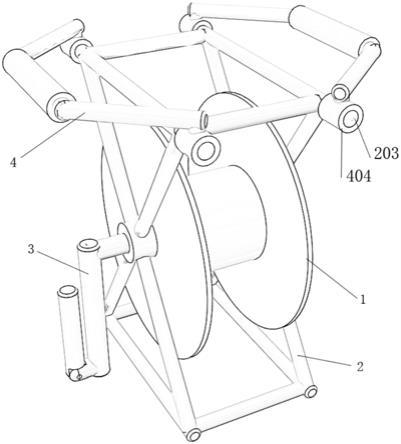 核磁共振仪天线线缆收纳装置的制作方法