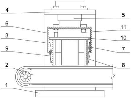 一种带有调节机构的轮胎叠放装置的制作方法