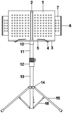 一种音乐教学用可调节式乐谱架的制作方法